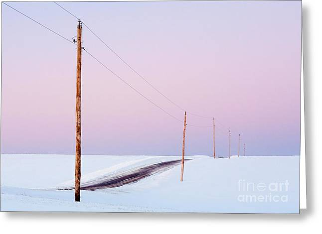 Single Phase Electrical Power Lines Greeting Card