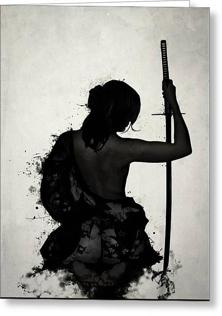 Female Samurai - Onna Bugeisha Greeting Card