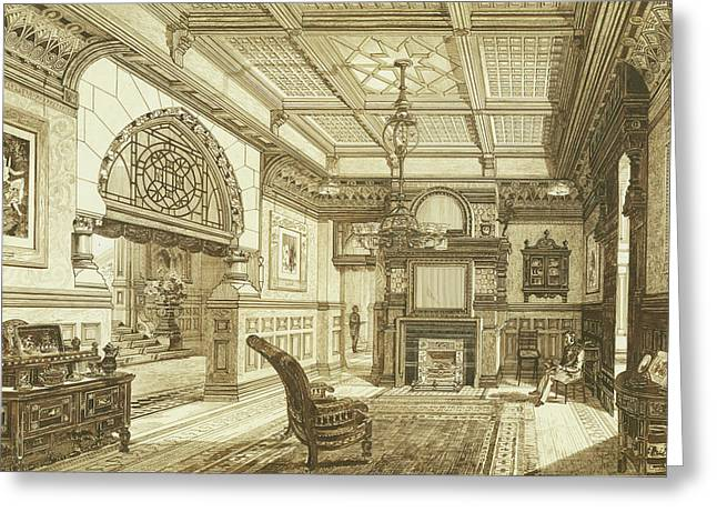 Sitting Room Of Bardwold, Merion Pa Greeting Card