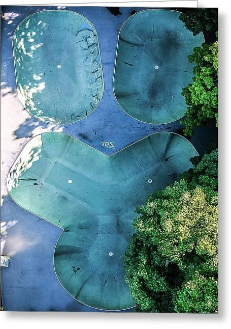 Skatepark - Aerial Photography Greeting Card
