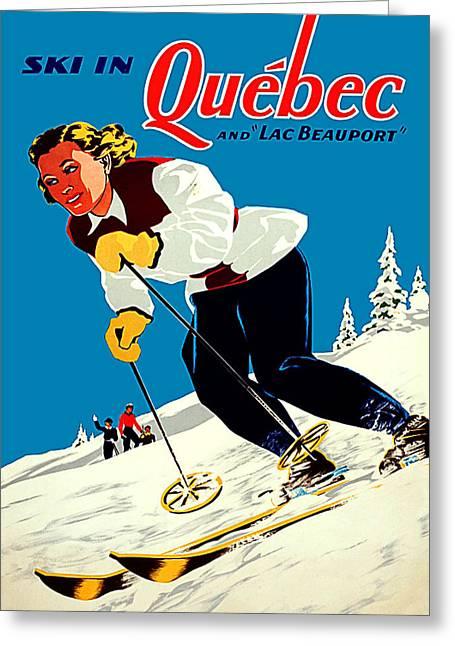 Ski In Quebec Greeting Card