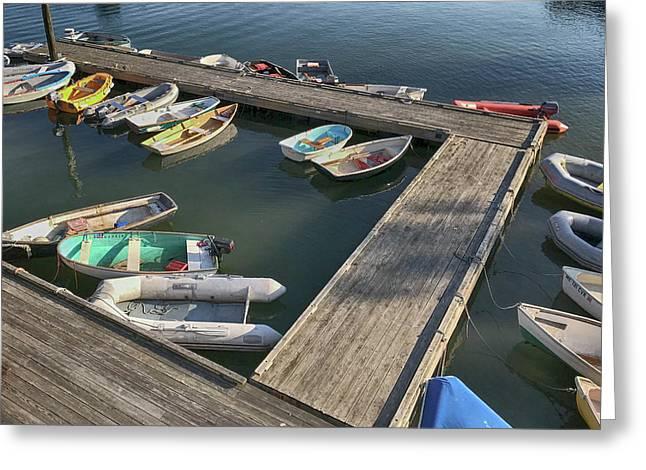 Skiffs In Rockland Harbor Greeting Card