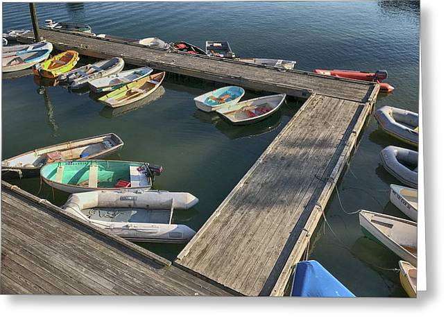 Skiffs In Rockland Harbor Greeting Card