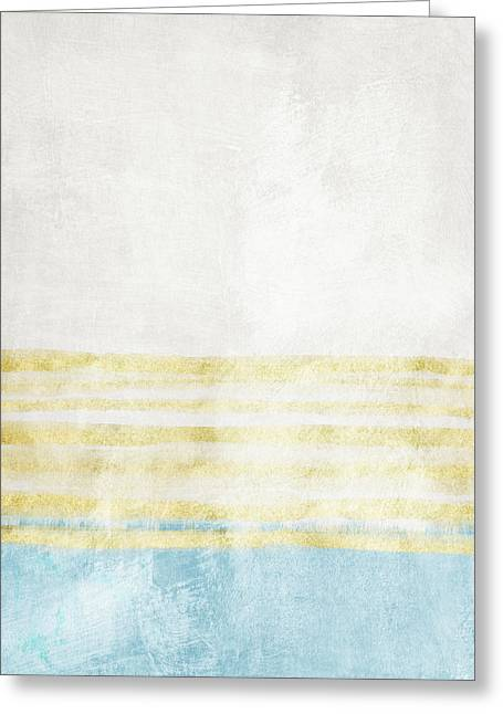 Sky Blue 2- Art By Linda Woods Greeting Card