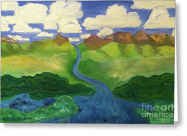 Sky River To Sea Greeting Card