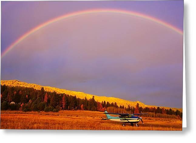Skylane Rainbow Greeting Card