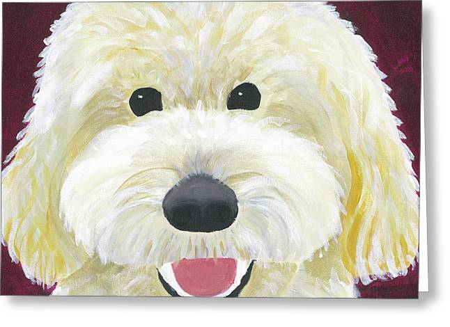 Greeting Card featuring the painting Skyler by Suzy Mandel-Canter