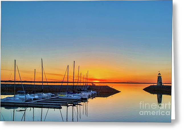 Sleeping Yachts Greeting Card