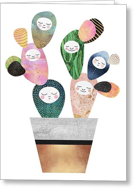 Sleepy Cactus Greeting Card