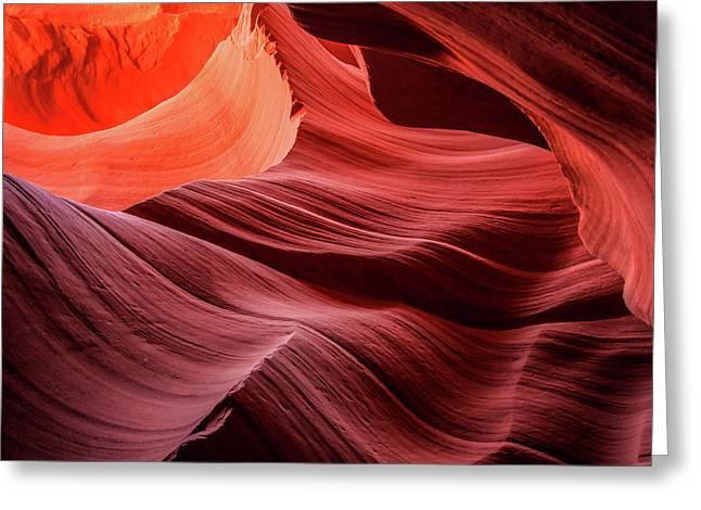 Slot Canyon Waves 2 Greeting Card