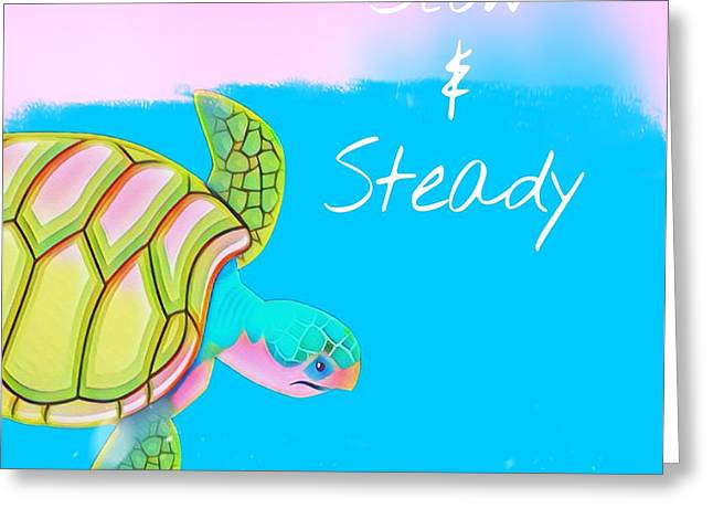 Slow And Steady Greeting Card