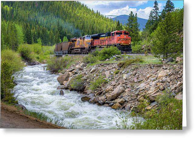 Slow Train Coming Greeting Card by G Wigler