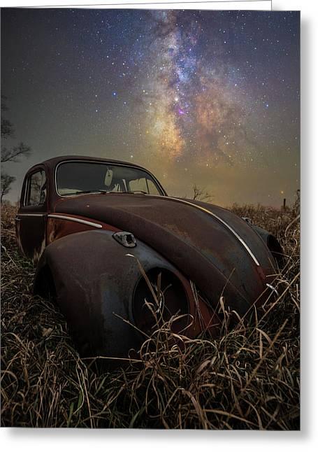 Greeting Card featuring the photograph Slug Bug 'rust' by Aaron J Groen