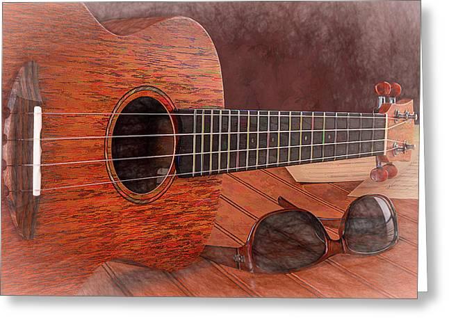 Small Guitar And Shades Greeting Card