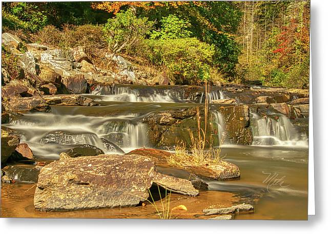 Greeting Card featuring the photograph Small Mountain Stream by Meta Gatschenberger