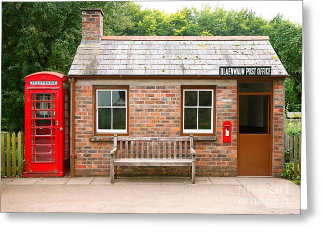 Small Traditional Brick Building With Greeting Card