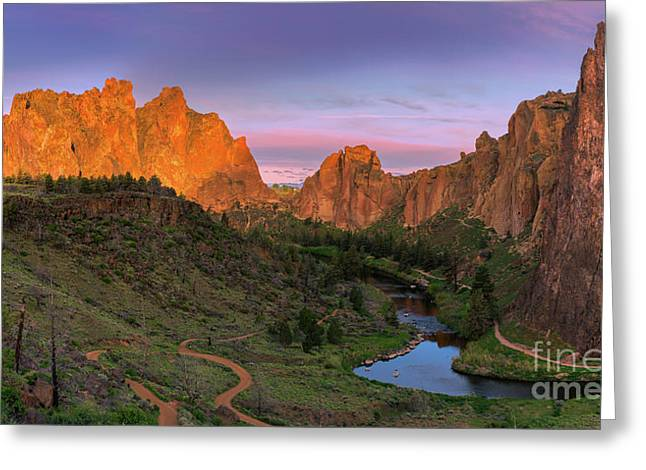 Smith Rock State Park, Oregon, Usa Greeting Card