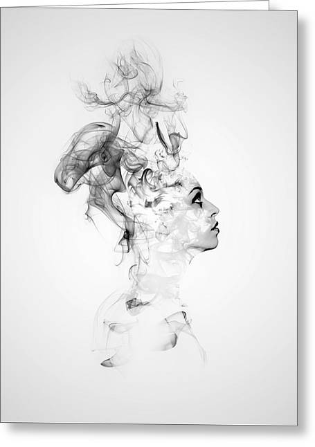 Smoke Woman Greeting Card