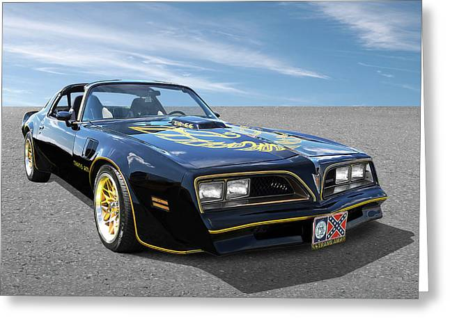 Smokey And The Bandit Trans Am Greeting Card