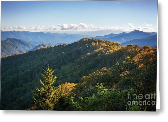 Greeting Card featuring the photograph Smoky Mountains by Sharon Seaward