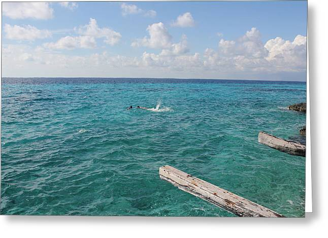 Snorkeling Greeting Card