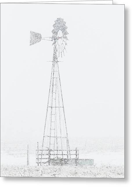 Greeting Card featuring the photograph Snow And Windmill 04 by Rob Graham