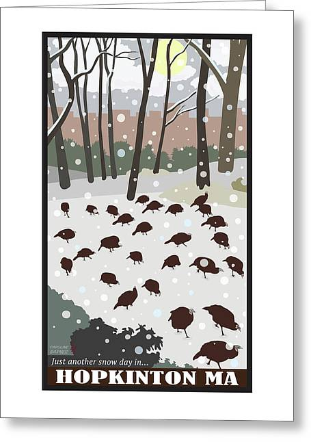 Snow Day In Hopkinton Greeting Card