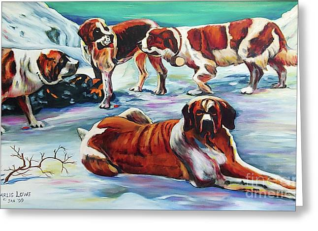 Snow Dogs Greeting Card