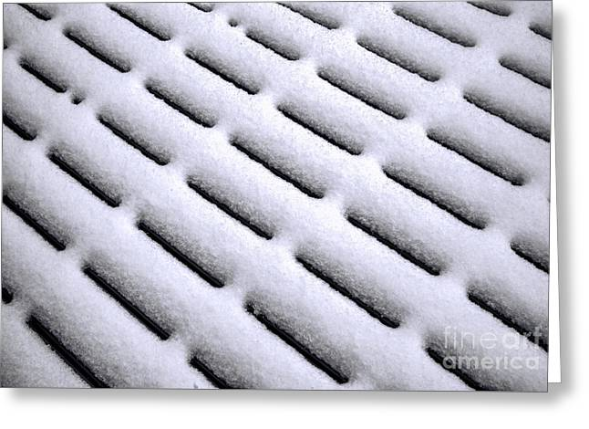 Greeting Card featuring the photograph Snow Patterns by Jon Burch Photography