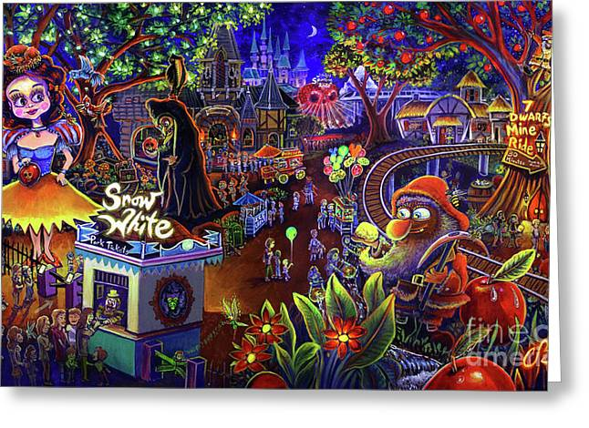 Snow White Amusement Park Greeting Card