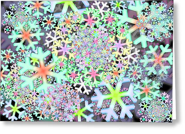 Snowflake One Remix One Greeting Card