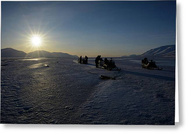 Snowmobile Expeditions Greeting Card