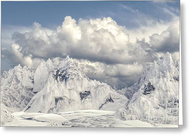 Snowy Mountain 002 Greeting Card