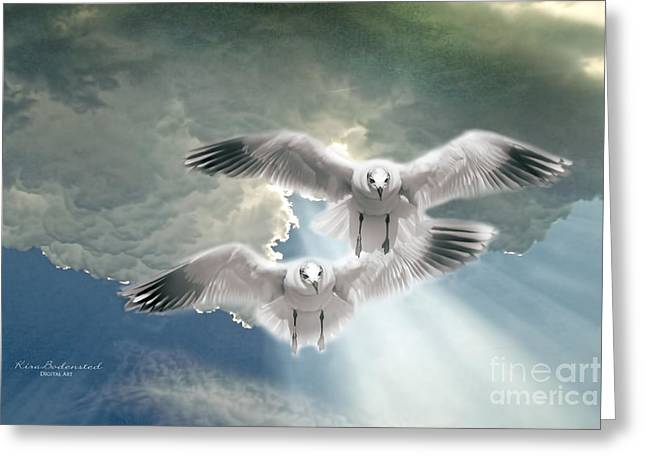 Soaring On A Ray Of Sunlight Greeting Card