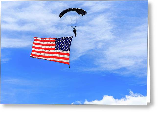 Socom Flag Jump Greeting Card