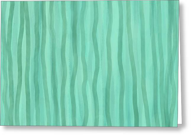 Soft Green Lines Greeting Card