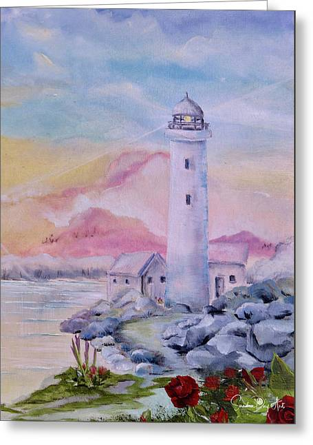 Soft Lighthouse Greeting Card