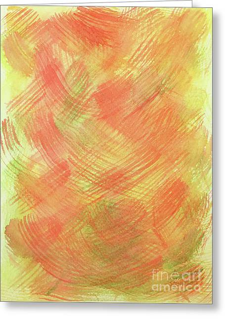Soft Orange Colors 2 Greeting Card