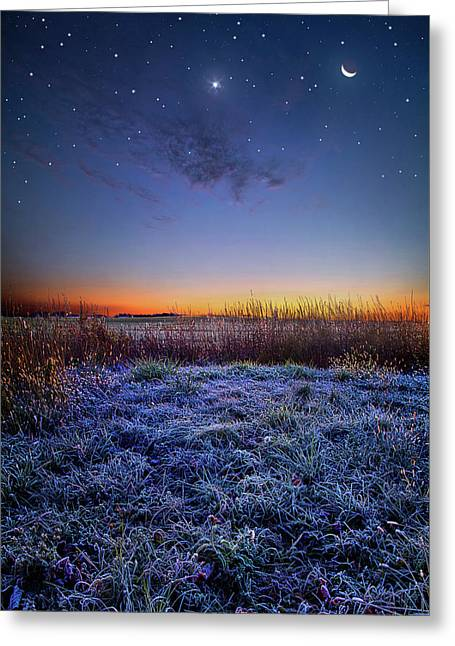 Greeting Card featuring the photograph Softly Spoken Prayers by Phil Koch