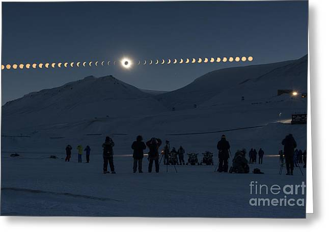 Solar Eclipse Sequence In Svalbard On Greeting Card