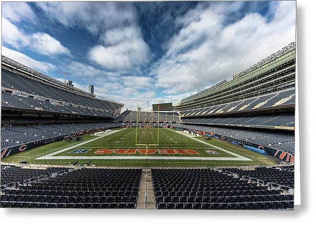 Soldier Field Chicago In Color Greeting Card
