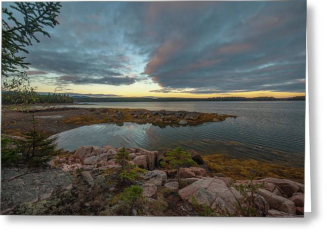 Greeting Card featuring the photograph Somes Sound Sunset by Rick Hartigan