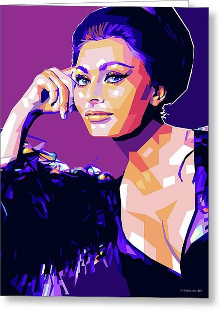 Sophia Loren Pop Art Greeting Card