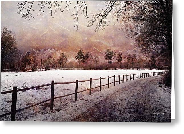 Greeting Card featuring the photograph Sounds In The Paddock by Randi Grace Nilsberg
