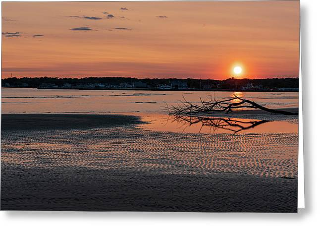 Soundview Sunset Greeting Card