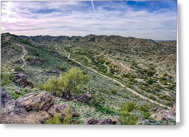 South Mountain Landscape Greeting Card