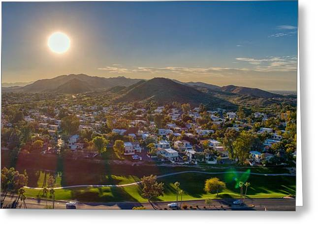 South Mountain Sunset Greeting Card