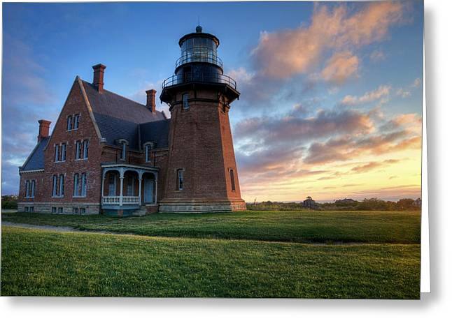 Southeast Light Sunrise Greeting Card
