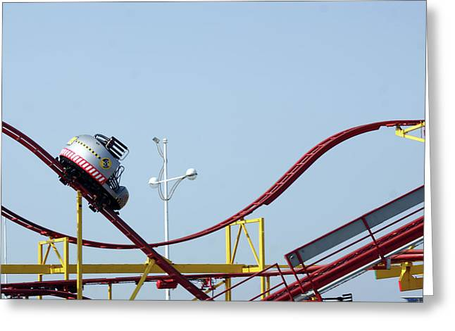 Southport.  The Fairground. Crash Test Ride. Greeting Card