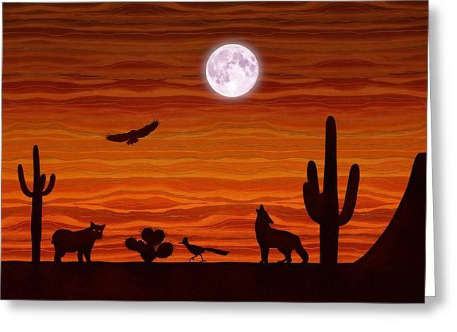 Southwest Desert Silhouette Greeting Card